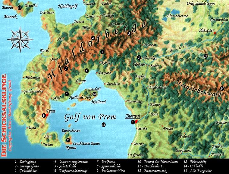das schwarze auge karte Die Region Thorwal in der Übersicht   DSA Nordlandtrilogie